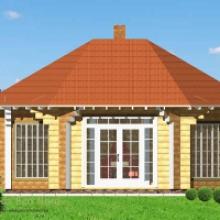 Проект дома: Беседка из бруса 210х210 В-372 37кв.м