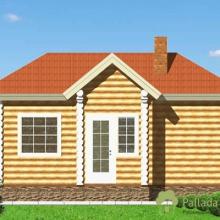 Проект дома: Баня бревно 220 В-374 20кв.м