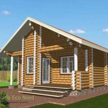 Проект дома: Баня бревно 220 М-61 41кв.м