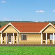 Проект дома: Проходная-офис бревно 220 В-357 86кв.м