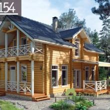 Проект дома: Дом клееный брус Б-154 151м кв