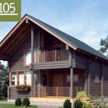Проект дома: Дом клееный брус Б-105 127м кв
