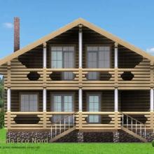 Проект дома: Дом из бревна 240 В-359 165кв.м