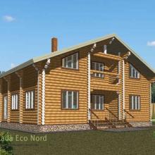 Проект дома: Дом бревно 220 М-66 169кв.м два этажа