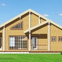 Проект дома: Дом из бревна 220 В-332 179кв.м