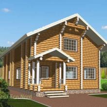 Проект дома: Дом бревно 220 М-62 191кв.м