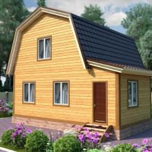 Проект дома: Проект дома из профилированного бруса 6х7 №2