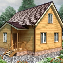 Проект дома: Проект дома из профилированного бруса 6х8