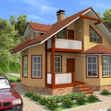 Проект дома:  Дома из утепленного бруса