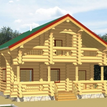 Проект дома: Дом в верандой