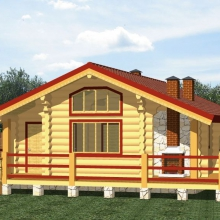 Проект дома: Дом с открытой террасой