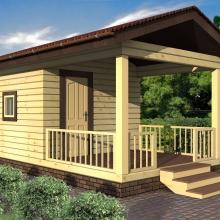 Проект дома: Баня из бруса Галина-15