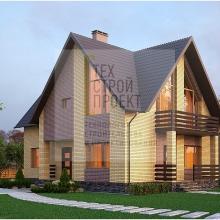 Проект дома: Проект двухэтажного дома в классическом исполнении