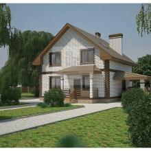 Проект дома: Проект компактного дома с мансардным этажом
