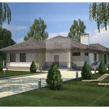 Проект дома: Проект большого одноэтажного загородного дома