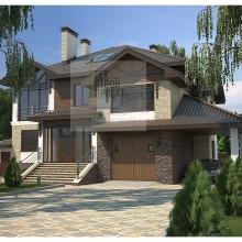 Проект дома: Проект особняка в трех уровнях
