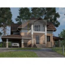 Проект дома: Проект большого дома с мансардным этажом