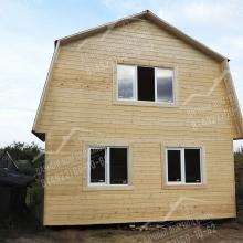 Проект дома: Дачный двухэтажный дом 6х6м с мансардной крышей.