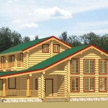 Проект дома: Дом с террасой и балконом